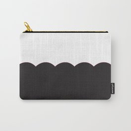 Scalloped - Black & White Carry-All Pouch
