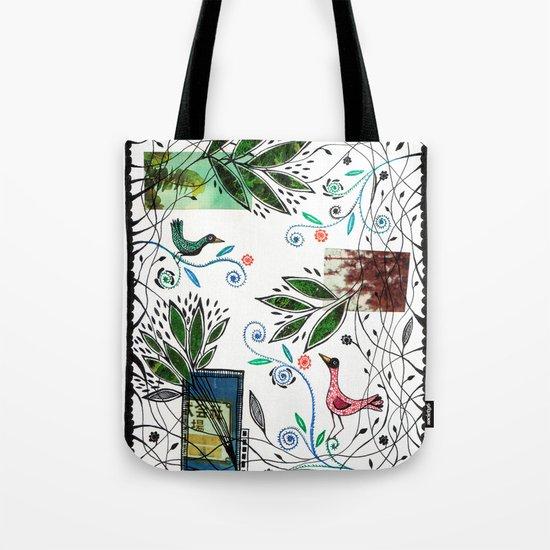 Through the jungle web Tote Bag