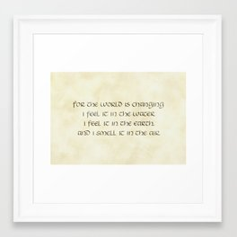 The World Is Changing... Framed Art Print