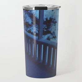 porch snow. Travel Mug