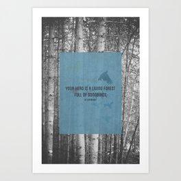 ee cummings - songbirds. Art Print