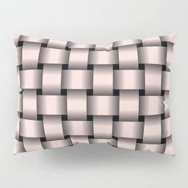 Pastel Pink Weave Pillow Sham