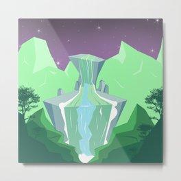 Waterfall from stone Metal Print
