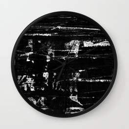 Distressed Grunge 102 in B&W Wall Clock