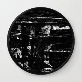 Distressed Grunge 102 in B&W Wall Clock