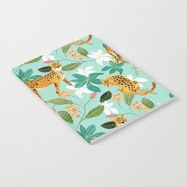 Cheetah Jungle #illustration #pattern Notebook
