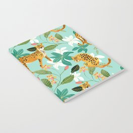 Cheetah Jungle #illustration #pattern Notebook