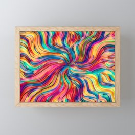 Seamless Pattern With Colors Of A Sweet Dream Framed Mini Art Print