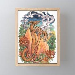 Three Headed Chrysanthemum Dragon Framed Mini Art Print