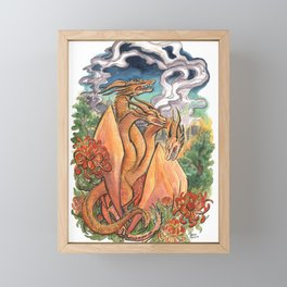 Three Headed Chrysanthemum Dragon Framed Mini Art Print