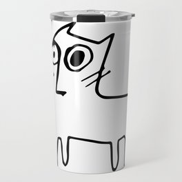 A mangy, miffed and slightly damaged cat Travel Mug