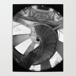 The spiral staircase in the Renaissance castle Hartenfels in Torgau / Saxony Poster