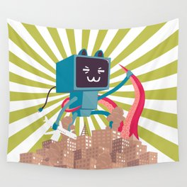 Go Go Mecha Kitty Wall Tapestry
