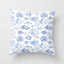 Fish Kiss Throw Pillow