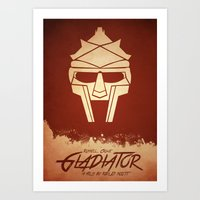gladiator Art Prints featuring Gladiator by Anton Lundin