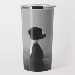 Girl with a gas mask Travel Mug