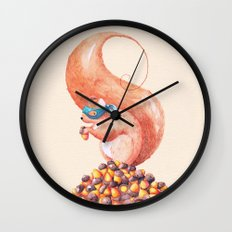 The Bandit Squirrel Wall Clock