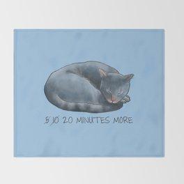 Sleepy Cat - 20 minutes more - Lazy Animals Throw Blanket