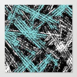 Desert Tracks Teal Canvas Print