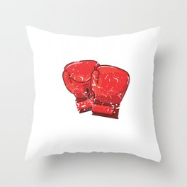 Boxing Trainer Boxer Personal Coach Box Training Throw Pillow