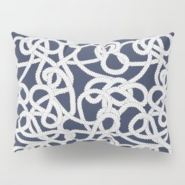 Nautical Rope Knots in Navy Pillow Sham