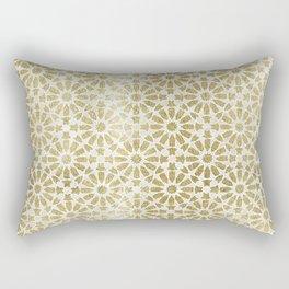 Hara Tiles Gold Rectangular Pillow