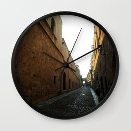 narrow and long street Wall Clock