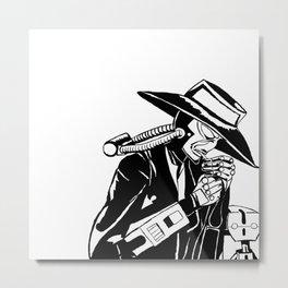 Galaxy Gangsters & Cad Bane (b&w)  Metal Print
