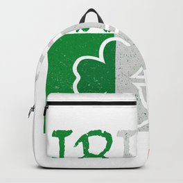 Irish Flag Vintage St Patricks Day Backpack