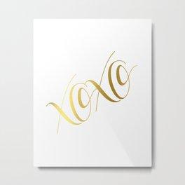 XOXO Gold Foil Print - Love Quote Print - Positive Quote - Lettered Print - Positive Metal Print