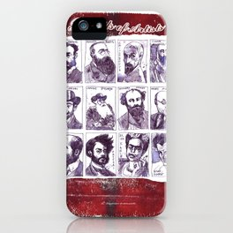 Portraits of artists iPhone Case