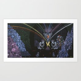 In Cupid's Shadow Art Print