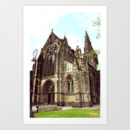 glasgow cathedral medieval cathedral Art Print