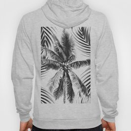 South Pacific palms II - bw Hoody