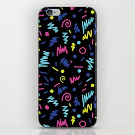 Vicky - 80s, 90s, bright neon, shapes, design, pattern, trendy, hipster, memphis design iPhone Skin
