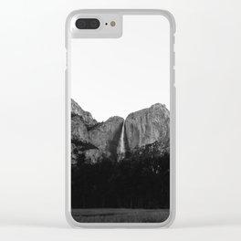 Yosemite Falls V Clear iPhone Case