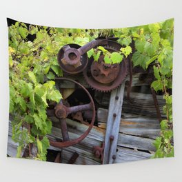 Overgrown Machinery Wall Tapestry