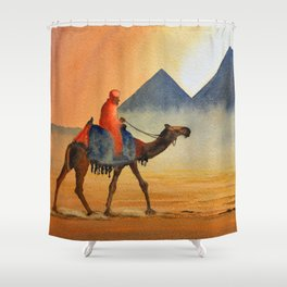 Sudden Sand Storm At Giza Pyramids Egypt Shower Curtain