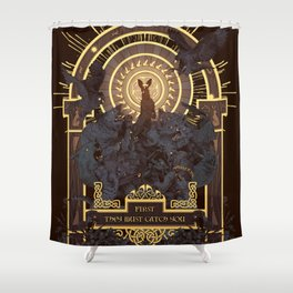 First They Must Catch You Shower Curtain