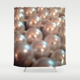 Antique Jewelry Vintage Pearls Shower Curtain