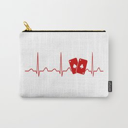 POKER HEARTBEAT Carry-All Pouch