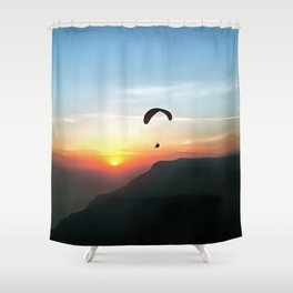 Sunset Paraglide Shower Curtain