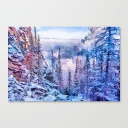 Winter forest in the mountains II Canvas Print