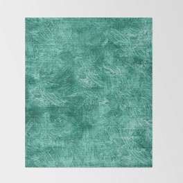 Lucite Green Oil Painting Color Accent Throw Blanket