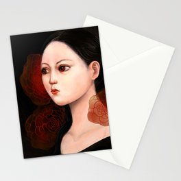 She likes to be alone Stationery Cards