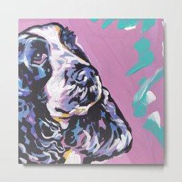 fun English Cocker Spaniel bright colorful Pop Art painting by Lea Metal Print
