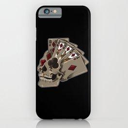 Poker Skull | Card Dealer Gambler Luck Jackpot iPhone Case