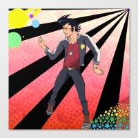 space dandy Canvas Prints featuring Space Dandy - A Dandy in Space by Neeko