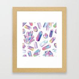 Purple Crystals Framed Art Print