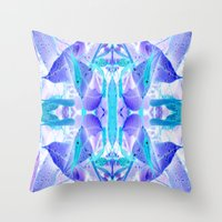 crystal Throw Pillows featuring Crystal by Cs025